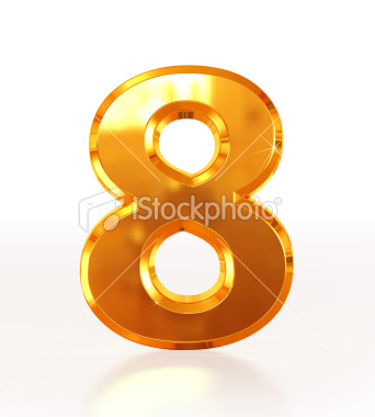 stock-photo-19423365-gold-number-8