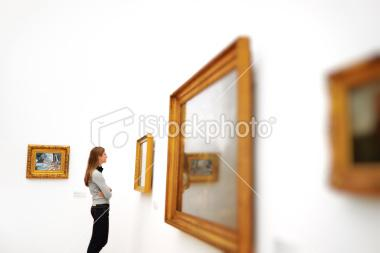 stock-photo-12006590-woman-in-a-museum